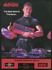 2000 Print Ad of ddrum Electronic Drums w Freddie Holliday of Boyz II Men