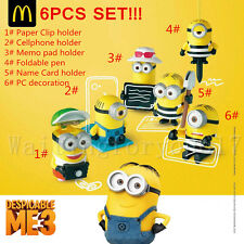 2017 The Despicable Me 3 Minions McDonalds Happy Meal Toys Set 6 PCS Collectable