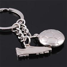 Football Soccer Boot Silver Metal Keychain Keyrings Keyfob  Creative KeyChain SH