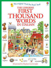 First Thousand Words In Italian Paperback Usborne 9781409566144