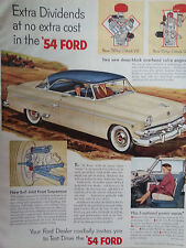 1954 Ford Coupe Color Original Automobile Ad