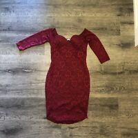 Love Tree Off Shoulder Lace Womens Dress