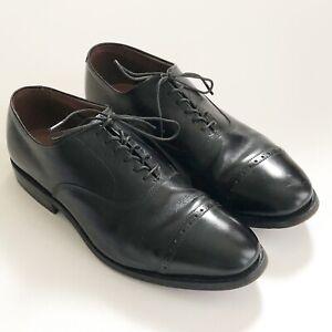 "Allen Edmonds ""FIFTH AVENUE"" Cap-Toe Oxfords Black Lace Up Made in USA Sz 6.5D"