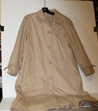 WESTBOUND for DILLARDS camel poly cotton 12 lined rain/trenchcoat w/out belt