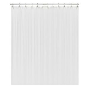 White Fabric Shower Curtain liner, Mildew Resistant and Antimicrobial, 72x72