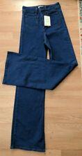 NWT Asos High waist Wide Leg 70s Medium Wash jeans denim W26 L32 Orig $120