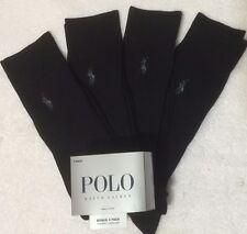 Polo Ralph Lauren 4-Pair Casual/Dress Socks Black   (7569)