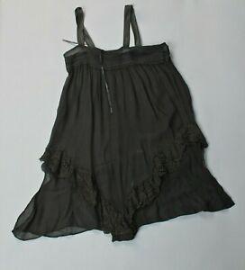 VTG Women's 40s Sheer Black Slip / Underwear Sz S 1940s Sleepwear