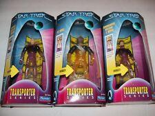 Retired Star Trek Next Gen Enterprise Transporter Series Picard, Worf figure Lot