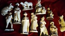 "1983  GIUSEPPE ARMANI - CAPODIMONTE Sculpture 11 Piece Nativity, Tallest 13.5"""