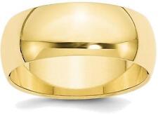 10K Yellow Gold 8mm Half Round Band Ring