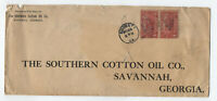 c1914 4 cent Parcel Post pair on cover Augusta GA [y4572]
