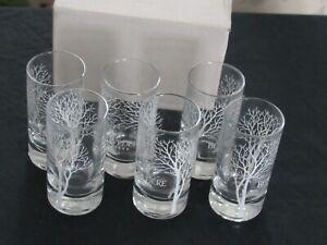 Belvedere Vodka  Tree Shot Glasses, 6 Glasses Unused NIB