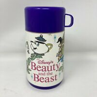 Vintage 90's Aladdin Disney Beauty & The Beast Thermos With Drinking Spout