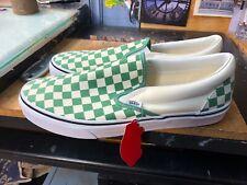 Vans Classic Slip On Checkerboard Deep Grass Green Size US 11.5 Men VN0A38F7TNU