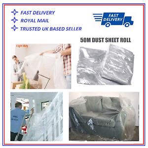 HUGE Polythene DUST ROLL Sheet 2M X 50M for Furniture or Carpets