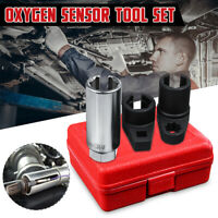 "3 Pcs Car Oxygen / Lambda Sensor Socket Wrench Tool Set 1/2"" & 3/8"" Drive 22mm"