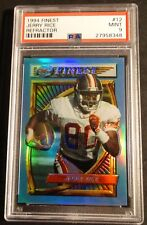 1994 TOPPS FINEST REFRACTOR JERRY RICE #12 PSA 9 HOF FORTY NINERS POP 34  (422)