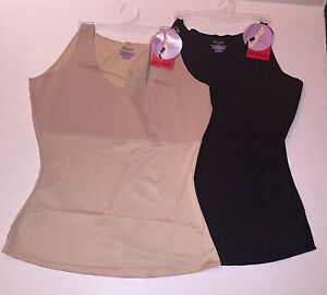 SPANX 051 Hide & Sleek Shaping Slimming Smoothing Cami Top NWT $46 Nude or Black