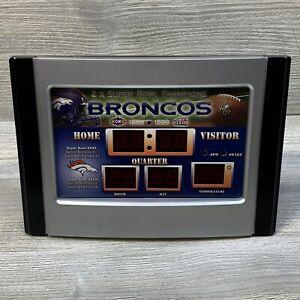 NFL Super Bowl Champions Denver Broncos 6.5 X 9 Scoreboard Desk Clock Tested