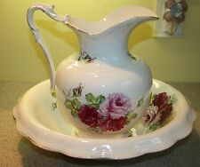 Antique Wash Basin /Pitcher by QUEEN E.P P. CO.  BEAUTIFUL