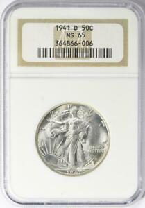 1941-D Walking Liberty Half Dollar - NGC MS-65 - Mint State 65