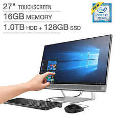 "HP 27"" All-in-One Touchscreen Computer Intel Core i7-7700T 16GB 1TB/128GB SSD 27"