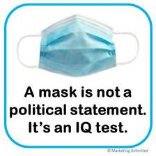 "WEAR A MASK STICKER [4""x4""] FACE MASK VINYL BUMPER STICKER / WINDOW - POLITICAL"