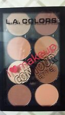 LA COLORS  I LOVE MAKE UP CONTOUR PALETTE SET 8 FACE POWDERS MEDIUM DEEP