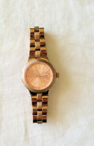 """Women's Fossil Watch AM-4402 With 5.5"""" Band Bronze Tone Works L1d"""