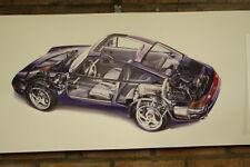 Porsche 911 993 carrera 3.6 Coupe trabajo Grande Tienda Garaje Banner Auto Show