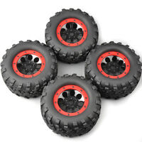 4X 1:8 RC Bigfoot Tires&Wheel 17mm Hex For HPI HSP TRAXXAS Summit Monster Truck