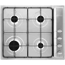 Smeg S64S Cucina Built In 58cm 4 Burners Gas Hob Stainless Steel New from AO