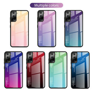 For Samsung Galaxy S21 Plus S20 FE Shockproof Gradient Tempered Glass Case Cover