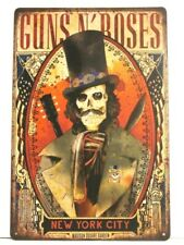New Guns n Roses Tin Metal Poster Sign Man Cave Concert Tour Vintage Ad Style