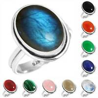 925 Sterling Silver Gemstone Ring Women Jewelry Size 5 6 7 8 9 10 11 12 13 bX755