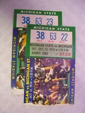 2 Michigan State vs. University of Michigan 1974 Football Game Ticket Stubs