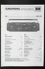GRUNDIG RCR 1750 Original Service-Manual/Service-Anleitung/Schaltplan!
