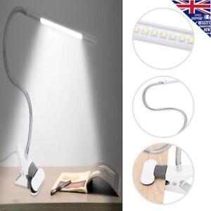 Modern Daylight LED Flexible USB Reading Light w/ Clip USB Interface Table Lamp