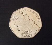 50p Coin 2018 Mrs Tittlemouse Beatrix Potter FREEPOST
