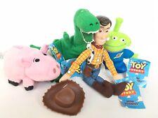 4 x Disney Pixar Toy Story Mini Buddies Woody Rex Hamm Alien Thinkway Toys Tags