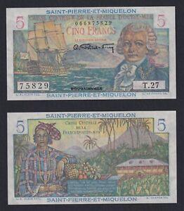 Saint Pierre Et Miquelon - 5 Francs 1950 (60) Fds / UNC B-09
