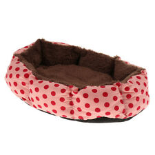 Soft Fleece Pet Bed Dog Bed Puppy Cat Warm Bed House Dots Print Nest Mat Pad