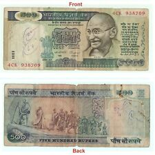 Old 1992 Collectible 500 Rs Indian Old Banknote - Gandhi Marching Note G5-34 US