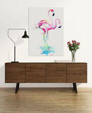 Pink Flamingo Watercolour Canvas Art Print   Framed Ready to Hang Wall Prints