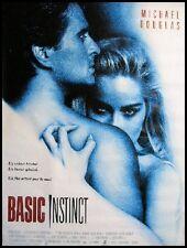 BASIC INSTINCT Movie Poster / Affiche Cinéma SHARON STONE MICHAEL DOUGLAS