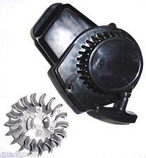 Seilzugstarter + Polrad Pocketbike Dirtbike Miniquad für Motor 49cc   KS schwarz