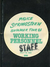 Bruce Springsteen - BS pass working personnel staff July 18,1981 -Philly - green