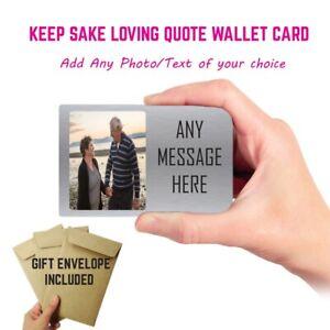 personalised photo keepsake wallet cards Perfect anniversary Gift Birthday gift