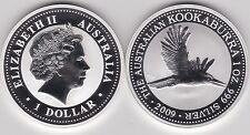 2009 Australia Plata 1 Oz. Kookaburra Volando En Cápsula
